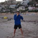 Vincent au travail sur la plage
